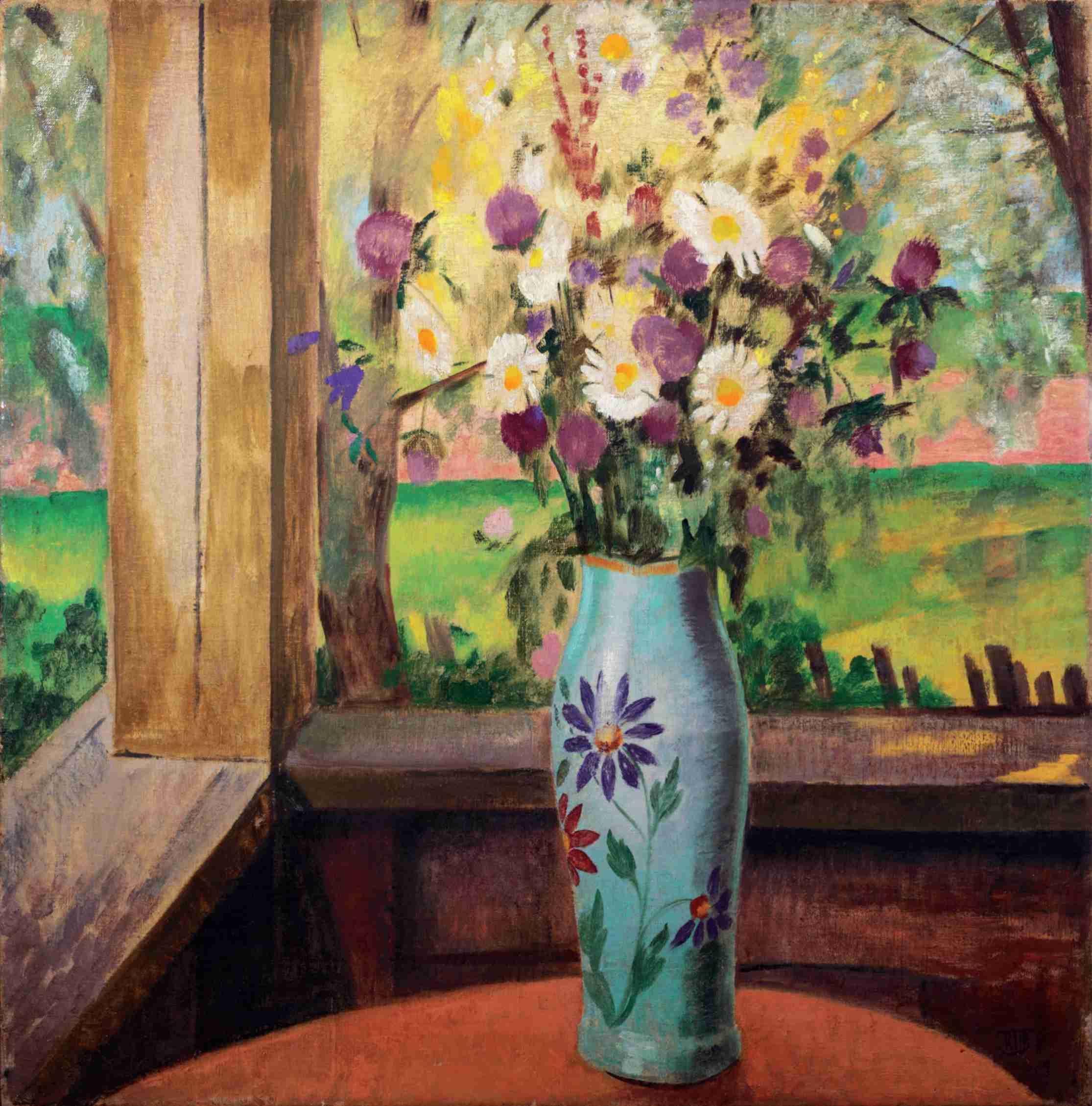 Золотая Палитра: К.С.Петров-Водкин. «Букет на террасе» (1913)